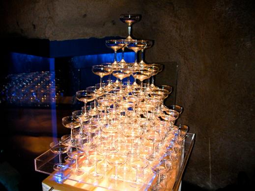 シャンパンタワー