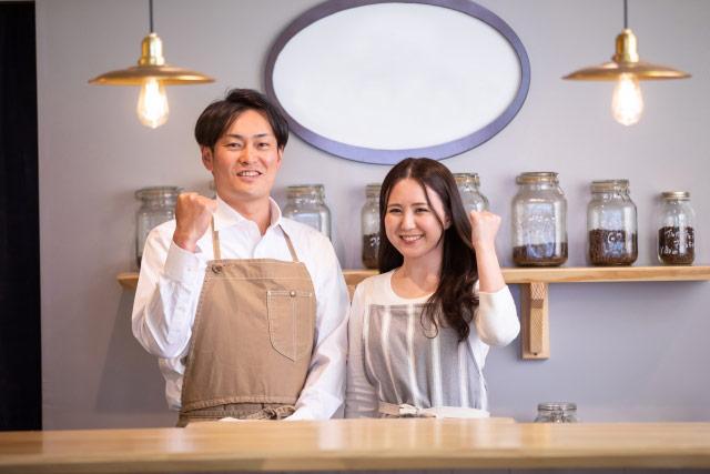 カフェ経営の夫婦